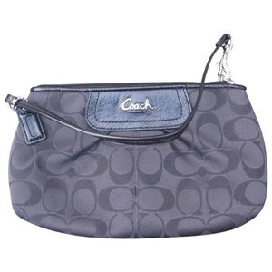 Coach Black Large Monogram Wristlet Wallet